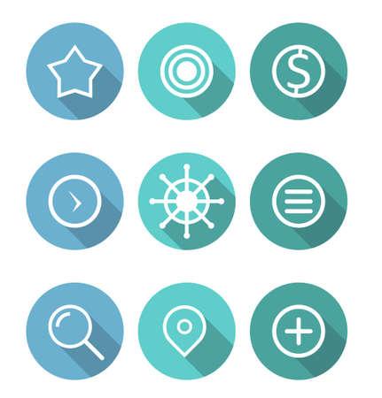 Business icon set design vector Vettoriali