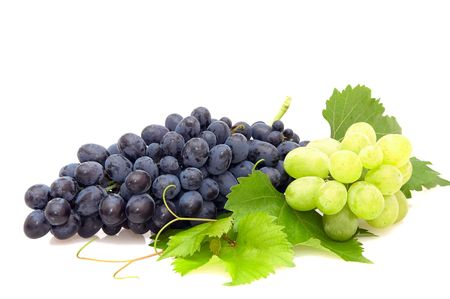 Bunch of grape isolated on  a white background. Stock Photo - 3583151