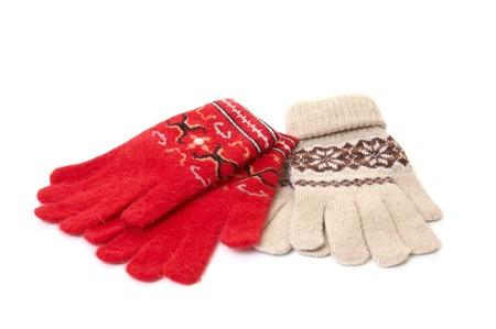 Wonderful  gloves  isolated on a white. photo