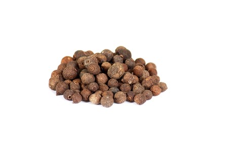 allspice: Spices: pile of allspice isolated on the white background