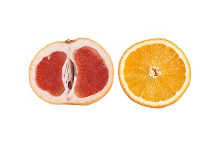 Tasty,juicy citrus isolated on a white background. photo
