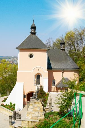 Old Orthodox church in countryside. photo