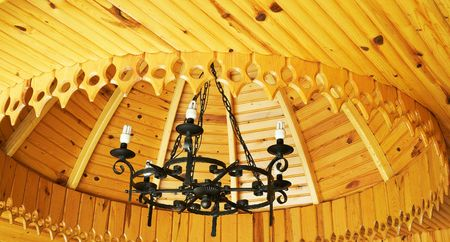 Ceiling of house in the turkish resort. photo