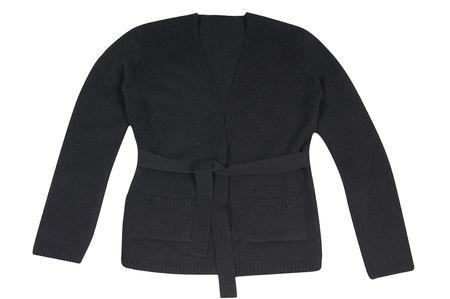 tunic: Stylish black tunic isolated on a white background.