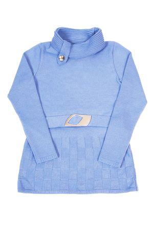 tunic: Beautiful blue tunic isolated on a white background.
