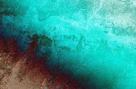 aquamarin: Vintage Grey-T�rkis-Wand kann als Hintergrund verwendet werden.