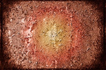 oxidized: Hoja de metal oxidado cubierto con pintura vieja.