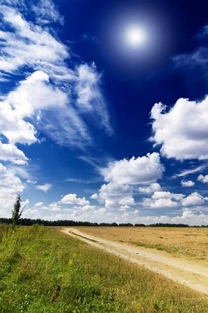 Wonderful rural landscape in finish summer. photo