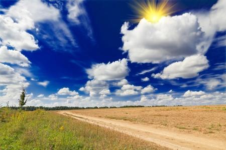 Wonderful autumnal rural landscape.  photo