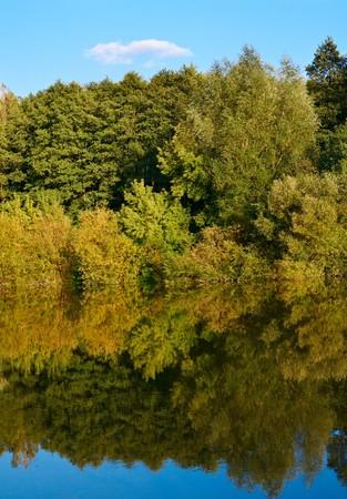 Silence on the autumnal lake. photo