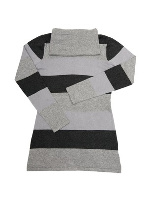 tunic: Amazing striped tunic isolated on a white background. Stock Photo