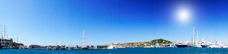 Le port des yachts incroyable. Bodrum.Turkey. Banque d'images