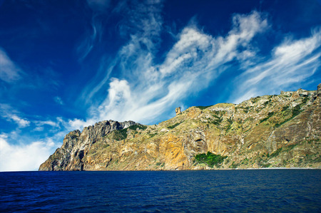 Wonderful rocks in  the Karadag  Koktebel, Crimea  photo