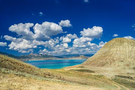Beautiful gulf near Koktebel  Crimea  photo