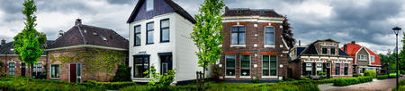 assen: Wonderful street with houses in the Netherlands. Assen. Editorial