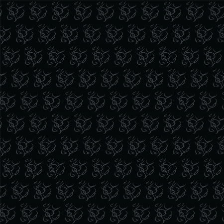 Black and Gray Seamless Wallpaper, Vector Background