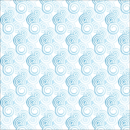 The seamless vector pattern with spiral curl