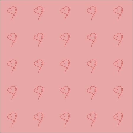 Seamless sketch heart pattern background design  Vector illustration