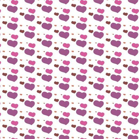 Seamless heart pattern background design  Vector illustration