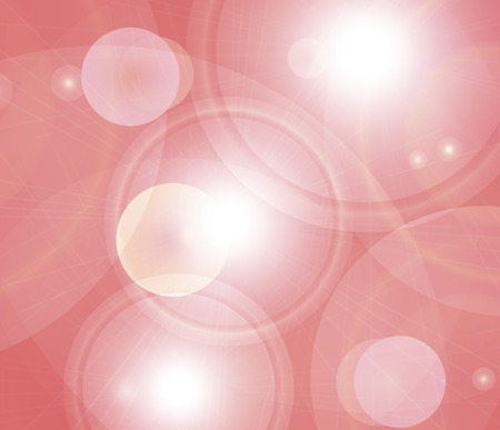Pinky red background illustration of shiny colorful flares. Stock Photo