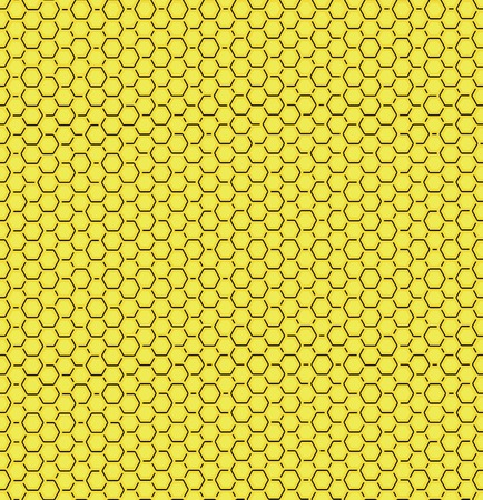 illustration of seamless geometric pattern with honeycombs