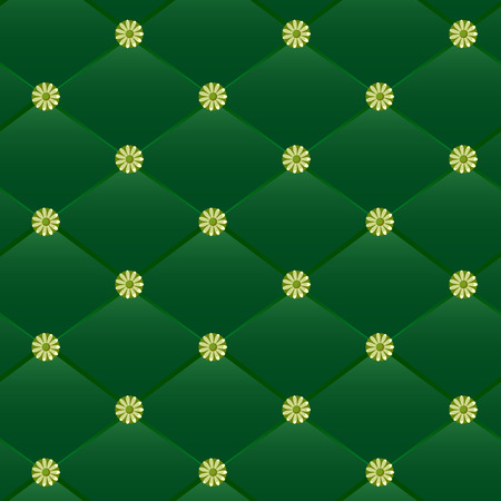 Vintage green leather pattern. Vector, made with gradient. Can be easily used for seamless pattern creation! Vector