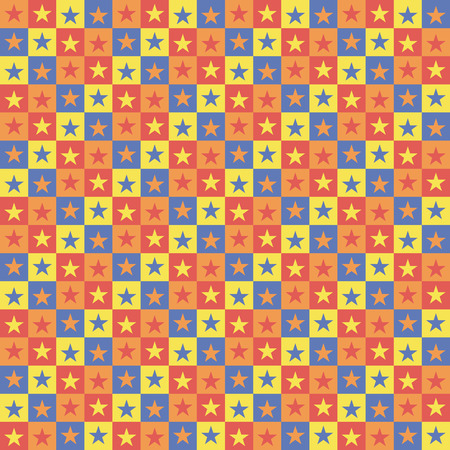 Vector illustration: pattern colorful background with squares stars. Vector