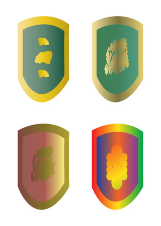 Coat of arms. Vector illustration contains gradients. Иллюстрация