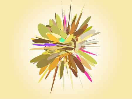 Abstract starry fireworks, light explosion. Vector illustration with transparency. Illustration