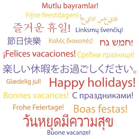 Happy holidays in many languages