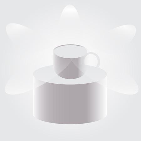 tasse caf�: Pedestal cup coffee, tea. Illustration