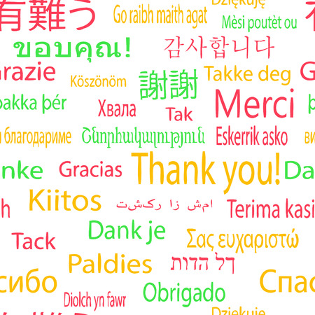 Thank you, vector pattern in different languages