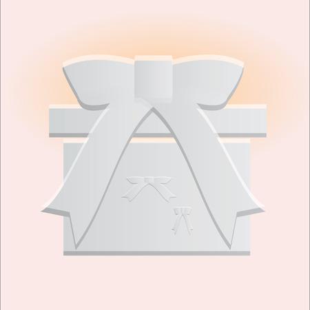 cadeau anniversaire: Anniversaire coffret cadeau ic�ne blanche. illustration.