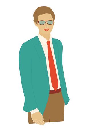 trustable: Retrato de una atractiva joven empresario witn nuevo proyecto. Vectores
