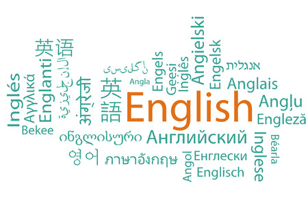 translation: Learning English, different languages. Vector.