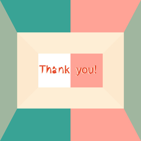 Retro Thank You Postcard Design Vector Royalty Free Cliparts