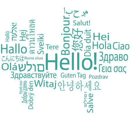 Hello, different languages. 版權商用圖片 - 28425873