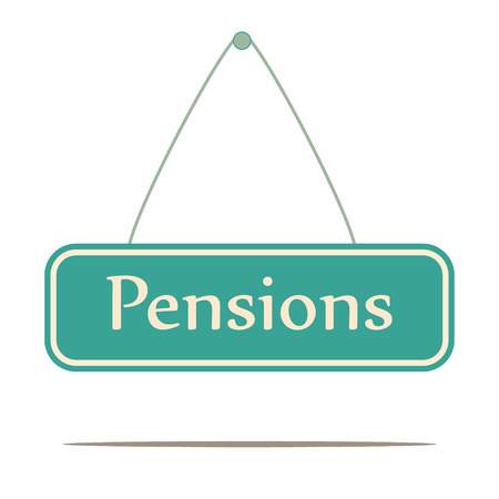 pensions: Pensions.  Signpost message  Illustration