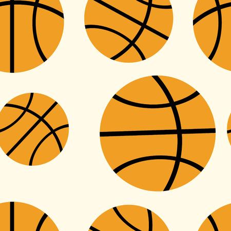 ballon basketball: basket ball pattern Vector Illustration
