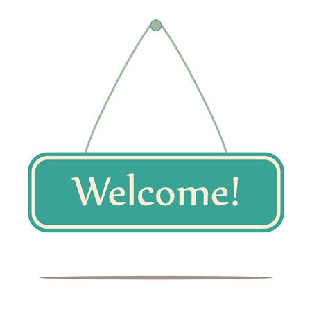 Welcome sign, vector Vector