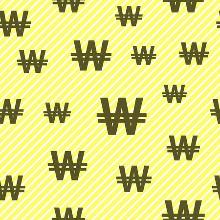 won vector pattern.