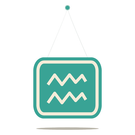 water carrier: aquarius zosiac sign, vector illustration  Illustration