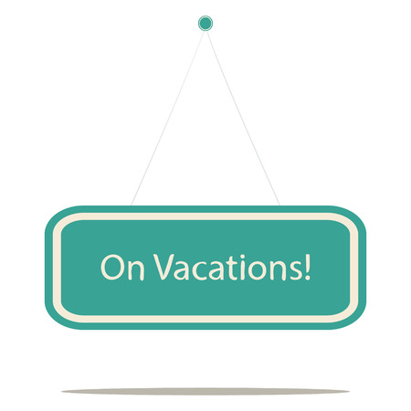 beach closed: On vacation, vector sign board