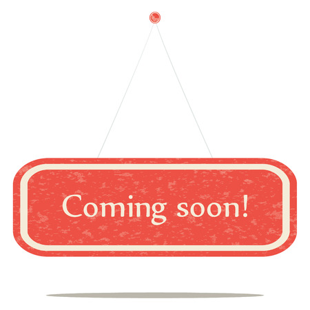 Coming soon, a stylish vector sign board. Illustration
