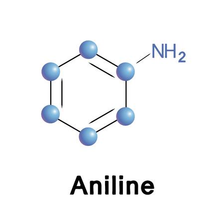 Aniline atoms Vector