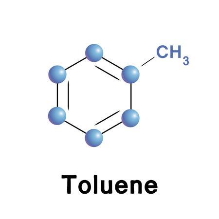 solvant: atomes de tolu�ne Illustration