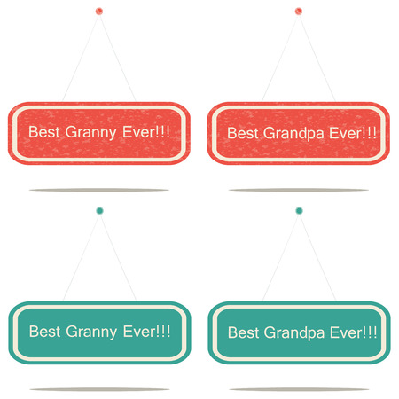 ever: Best granny and grandpa ever signs Illustration