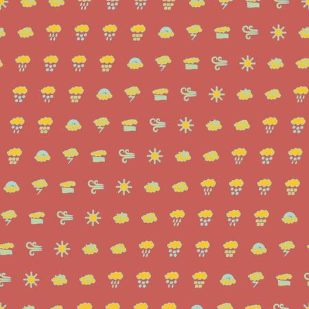 weather symbols: Weather symbols seamless pattern illustration.