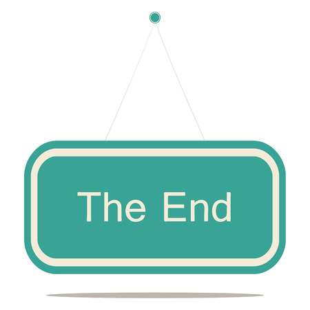 Flat design style modern vector illustration concept of the end sign board.