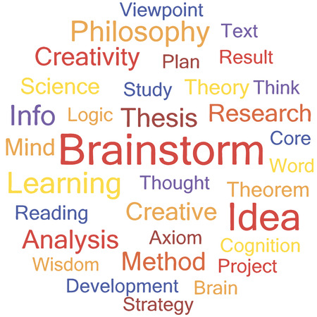 word collage: Brainstorm word collage, tag cloud vector illustration.